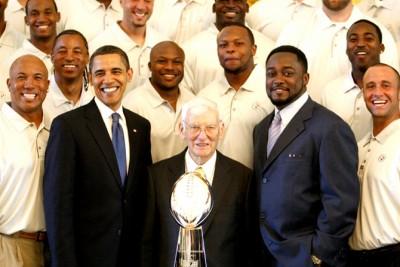 President Obama w/ the SuperBowl XLIII Champions - Pittsburgh Steelers